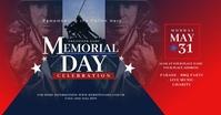 Memorial Day Facebook Shared Image Obraz udostępniany na Facebooku template