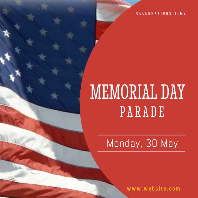 Memorial Day Festival Instagram Video Templat Wpis na Instagrama template