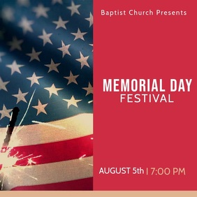 Memorial Day Festival Instagram Video Template