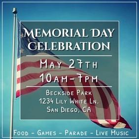Memorial Day Flag Video