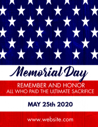 memorial day flayer template Pamflet (Letter AS)
