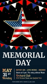 Memorial Day Flyer, 4th of july Instagram-Story template