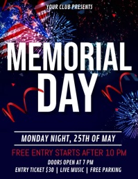 Memorial Day Flyer Ulotka (US Letter) template