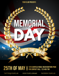 Memorial Day Flyer ใบปลิว (US Letter) template