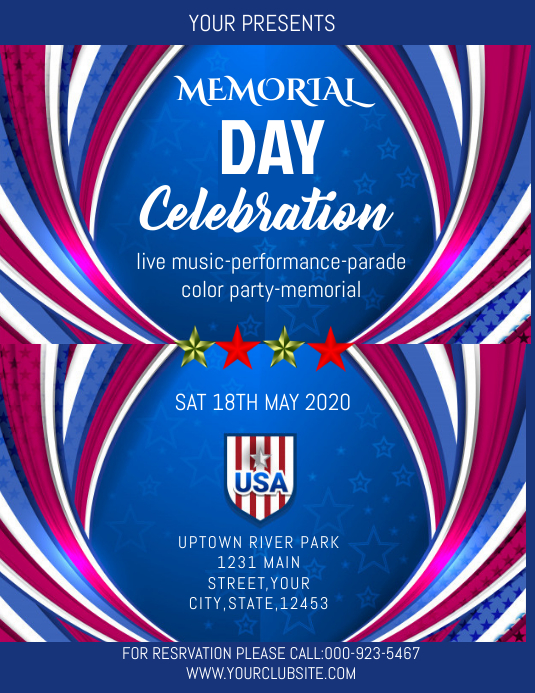 memorial day flyer template postermywall. Black Bedroom Furniture Sets. Home Design Ideas