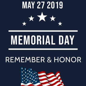 MEMORIAL DAY FLYER Cover ng Album template