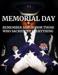 memorial day flyer inspirational and respect