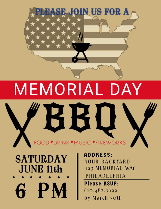 Memorial Day Flyer Template  Postermywall