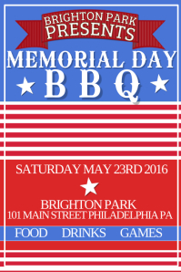 Customizable Design Templates for Memorial Day Bbq | PosterMyWall