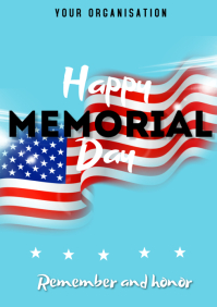 Memorial Day Flyers A3 template