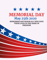 memorial day inspirational flyer Volante (Carta US) template