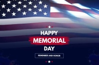Memorial Day Instagram post Banner 4 × 6 Fuß template