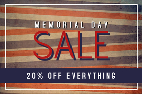 memorial day landscape sale flyer template