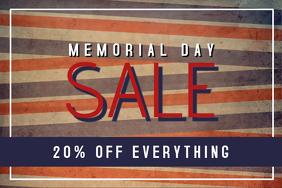 memorial day landscape sale flyer template