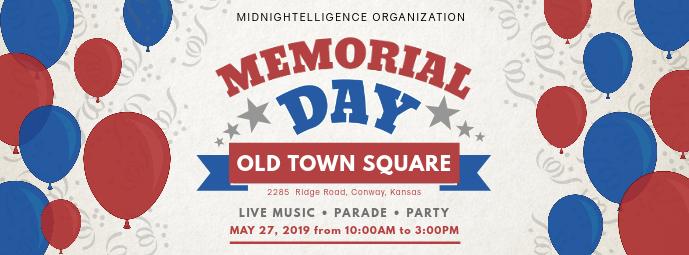 Memorial Day Mega Sale Facebook Cover Ad