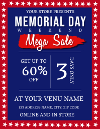 Memorial Day Mega Sale Flyer Template