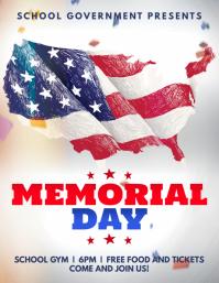 Memorial Day Modern Flyer Template Pamflet (VSA Brief)