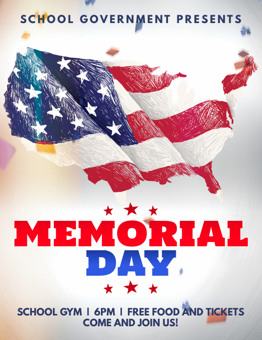 memorial day modern flyer template postermywall