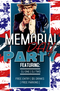 Memorial Day Night Club Poster