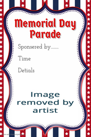 Memorial Day Parade flyer American Pride 4th of July