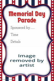 Memorial Day Parade flyer American Pride 4th of July