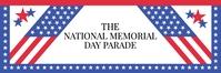 Memorial Day Parade Banner Template Spanduk 2' × 6'