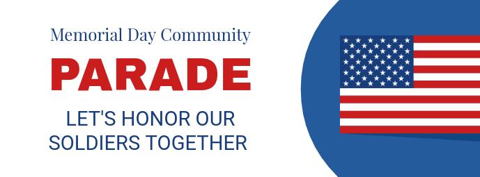 Memorial Day Parade Facebook Cover Template