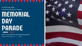 Memorial Day Parade Facebook Cover Video Template