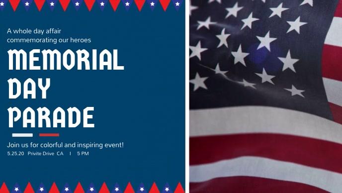 Memorial Day Parade Facebook Cover Video Template Postermywall
