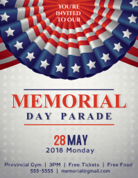 Memorial Day Parade Flyer Template