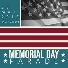 Memorial Day Parade Instagram Video Template Instagram-Beitrag