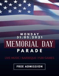 Memorial Day Parade Poster Рекламная листовка (US Letter) template