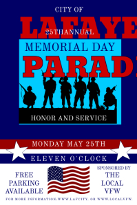 Memorial Day Parade Poster template