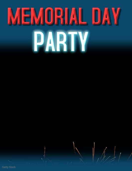 MEMORIAL DAY PARTY EVENT BLOCK PARTY BLOCK PARTY BBQ