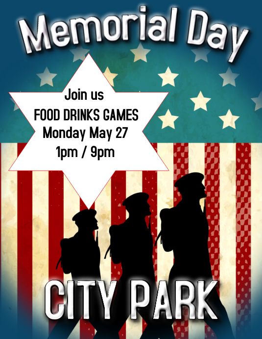 MEMORIAL DAY PARTY EVENT Folheto (US Letter) template