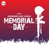 Memorial day post โพสต์บน Instagram template