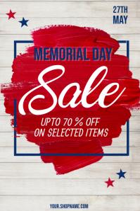Memorial Day Poster, Memorial Day Sale
