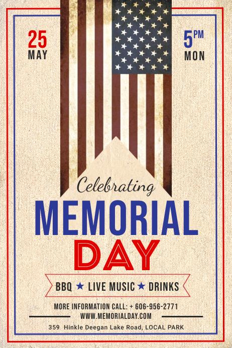 Memorial Day poster โปสเตอร์ template