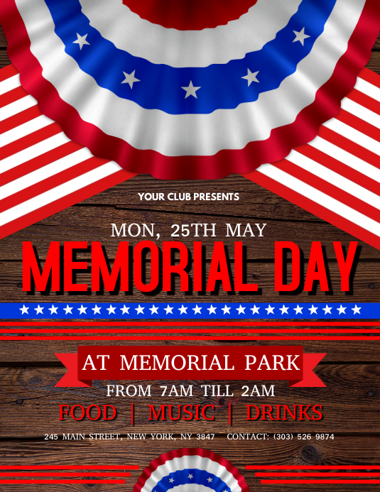 Memorial Day Flyer Volante (Carta US) template