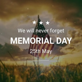Memorial Day Quote Template Wpis na Instagrama