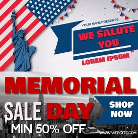 MEMORIAL DAY SALE AD SOCIAL MEDIA TEMPLATE