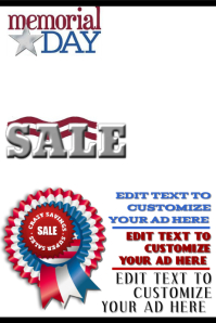 Memorial Day Sale Ad  For Sale Ad Template