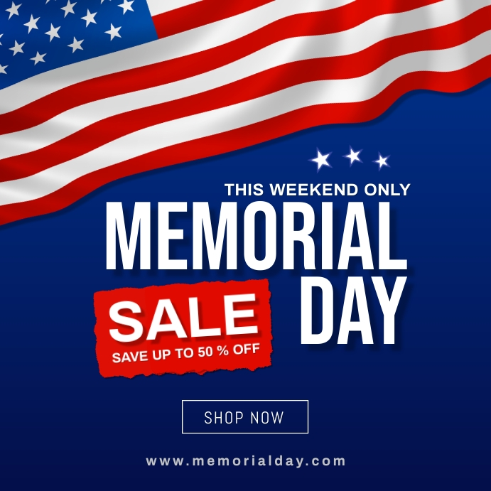 memorial day sale banner Instagram-opslag template