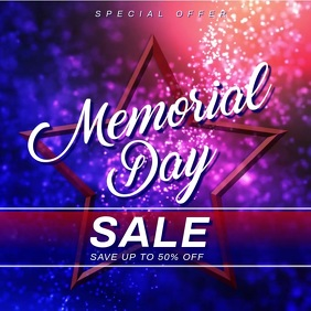 memorial day sale banner Wpis na Instagrama template