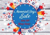 Memorial Day Sale 明信片 template