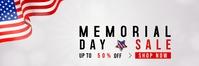 Memorial Day Sale Spanduk 2' × 6' template