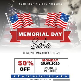 Memorial Day Sale Event Flyer Template