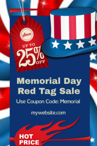 Memorial Day Sale Event Flyer