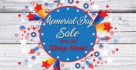 Memorial Day Sale FB Facebook-Veranstaltungscover template