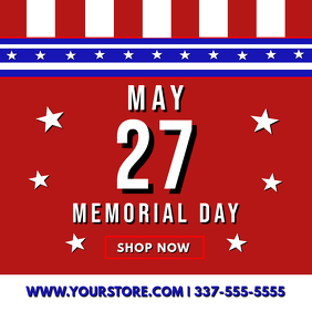 MEMORIAL DAY SALE FLYER Album Cover template